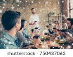 young handsome bearded guy is... | Shutterstock . vector #750437062