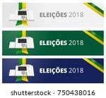 banner brazil vote campaign... | Shutterstock .eps vector #750438016