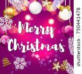 merry christmas card | Shutterstock .eps vector #750441478