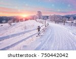 Beautiful Winter Landscape In...