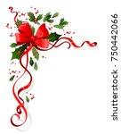 christmas festive ornament for... | Shutterstock .eps vector #750442066