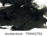 abstract ink background. marble ... | Shutterstock . vector #750442702