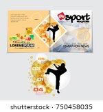 sport magazine cover vector... | Shutterstock .eps vector #750458035