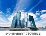contemporary business centre on ... | Shutterstock . vector #75045811