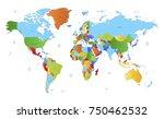 color world map vector | Shutterstock .eps vector #750462532