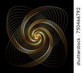 vector wavy twirl gold rosette  ... | Shutterstock .eps vector #750466792