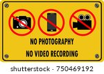 no photography and no video... | Shutterstock .eps vector #750469192