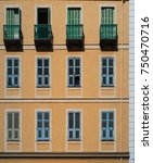 windows on an old building | Shutterstock . vector #750470716