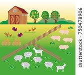 agribusiness. rural landscape. ...   Shutterstock .eps vector #750478906