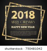 the 2018 new year count symbol... | Shutterstock .eps vector #750481042