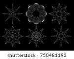 vector mathematical annular... | Shutterstock .eps vector #750481192
