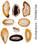 Small photo of Agate Slices on white
