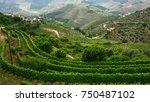 top view of douro valley ... | Shutterstock . vector #750487102