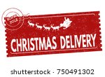 christmas delivery grunge... | Shutterstock .eps vector #750491302
