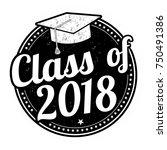 class of 2018 grunge rubber...