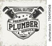 vintage logo graphic design ... | Shutterstock .eps vector #750493408