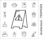 wet floor icon. set of cleaning ... | Shutterstock .eps vector #750495205