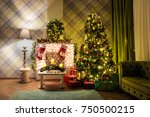 night view of new year green... | Shutterstock . vector #750500215