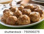 delicious homemade swedish... | Shutterstock . vector #750500275