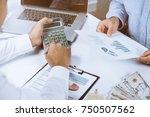 financial consultant calculate... | Shutterstock . vector #750507562