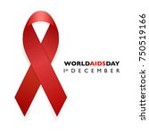 banner with aids awareness red... | Shutterstock .eps vector #750519166