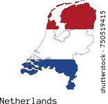 vector netherlands map... | Shutterstock .eps vector #750519415