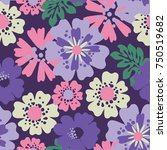 floral pattern | Shutterstock .eps vector #750519682
