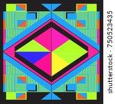 trendy geometric elements... | Shutterstock .eps vector #750523435