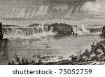 Old Illustration Of Niagara...