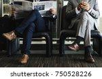 business men break sit read...   Shutterstock . vector #750528226