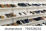 many of woman fashion shoes or... | Shutterstock . vector #750528232