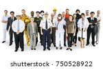 large group of professionals | Shutterstock . vector #750528922