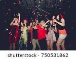 blurred people in party   group ... | Shutterstock . vector #750531862