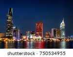 ho chi minh city skyline and... | Shutterstock . vector #750534955