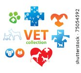 Stock vector collection of icons veterinary medicine 75054592
