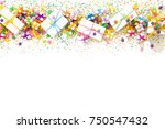 preparation for a birthday  a... | Shutterstock . vector #750547432