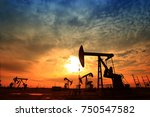 the oil pump  industrial... | Shutterstock . vector #750547582