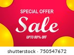 sale banner template color red | Shutterstock .eps vector #750547672