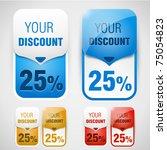 discount labels. vector | Shutterstock .eps vector #75054823