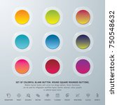 set of colorful blank button.... | Shutterstock .eps vector #750548632