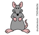 cartoon rat vector illustration | Shutterstock .eps vector #750548656