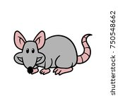 cartoon rat vector illustration | Shutterstock .eps vector #750548662