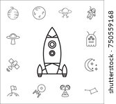 rocket icon. set of space icons.... | Shutterstock .eps vector #750559168
