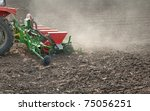 Farm Tractor And Seeder...
