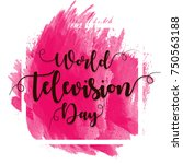 world television day | Shutterstock .eps vector #750563188
