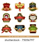 vector frames and ornamental... | Shutterstock .eps vector #75056797