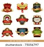 vector frames and ornamental...   Shutterstock .eps vector #75056797