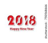 new year 2018 .3d illustration... | Shutterstock .eps vector #750568666