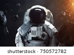 brave astronaut at the... | Shutterstock . vector #750572782