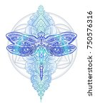 exquisite ornate stylized... | Shutterstock .eps vector #750576316